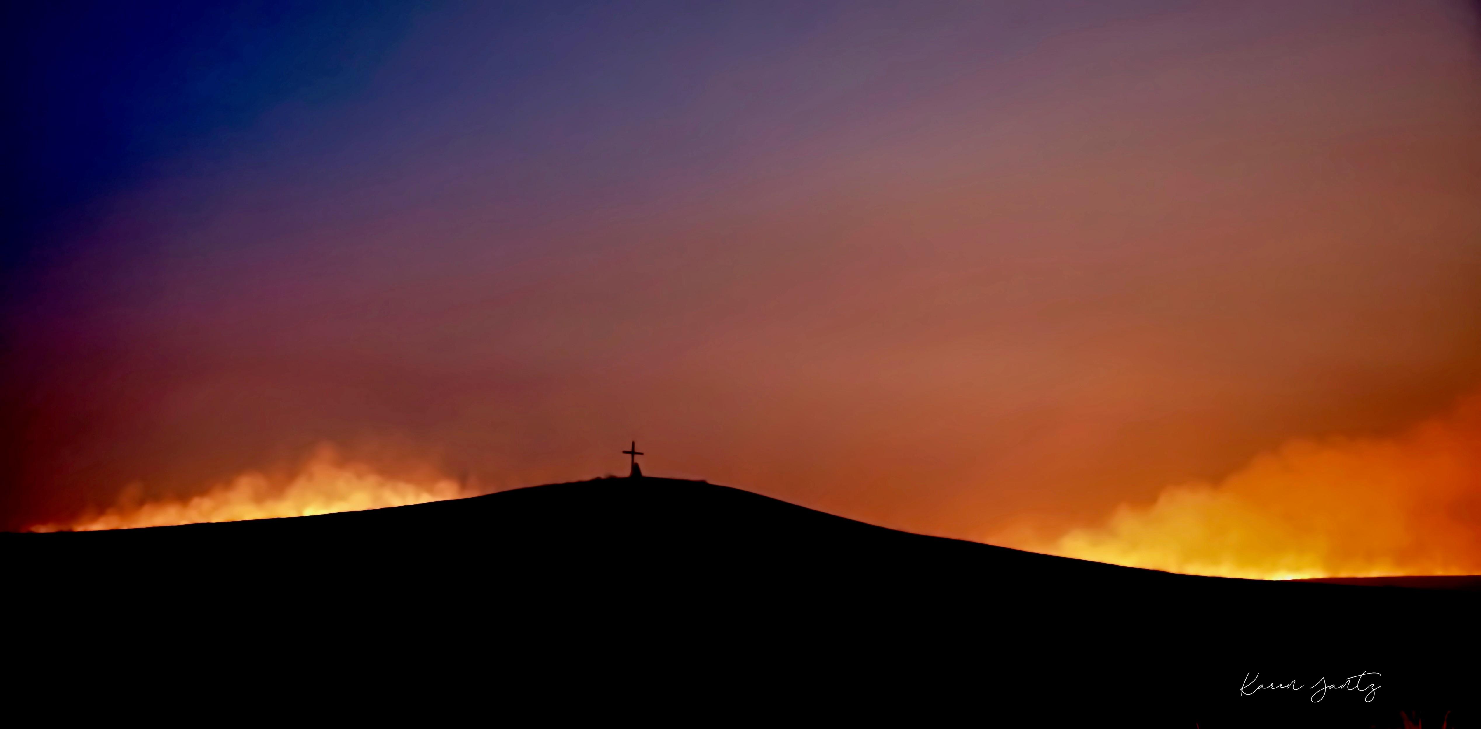 Pasture burning